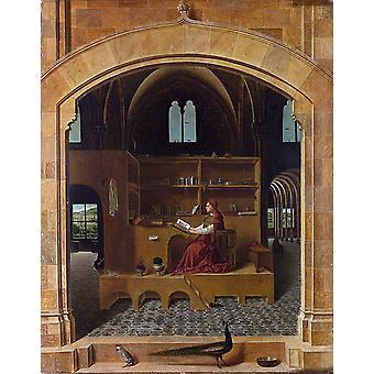 Saint Jerome in his Study, Antonello da Messina, 50x40cm