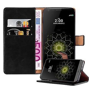 Cadorabo case voor LG G5 case cover - mobiele telefoon hoesmetje met magnetische sluiting, standaardfunctie en kaartvak - Case Cover Protective Case Book Folding Style