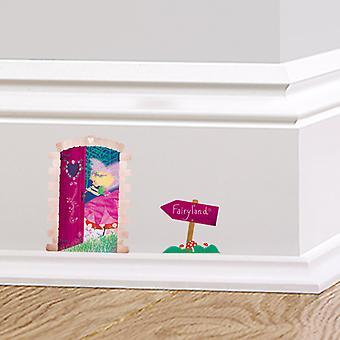 Full Colour Fairyland Door Skirting Board Sticker