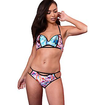 Lovemystyle geometrisk Print Bikini sæt i Multi