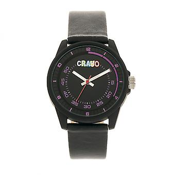 Crayo Jolt Unisex Watch - Black