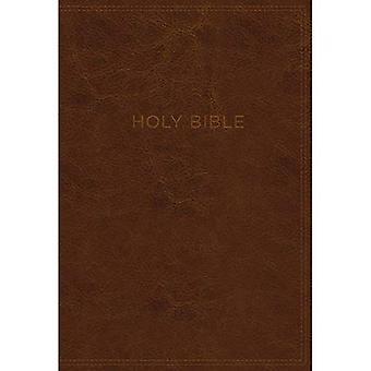 KJV, savoir le mot Bible d'étude, Imitation cuir, brun, Red Letter Edition: Acquérir une meilleure compréhension de la Bible livre par livre, verset par verset ou sujet par sujet