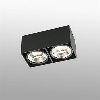 Faro - Tecto Ar111 Black Square två ljus Spotlight FARO63277