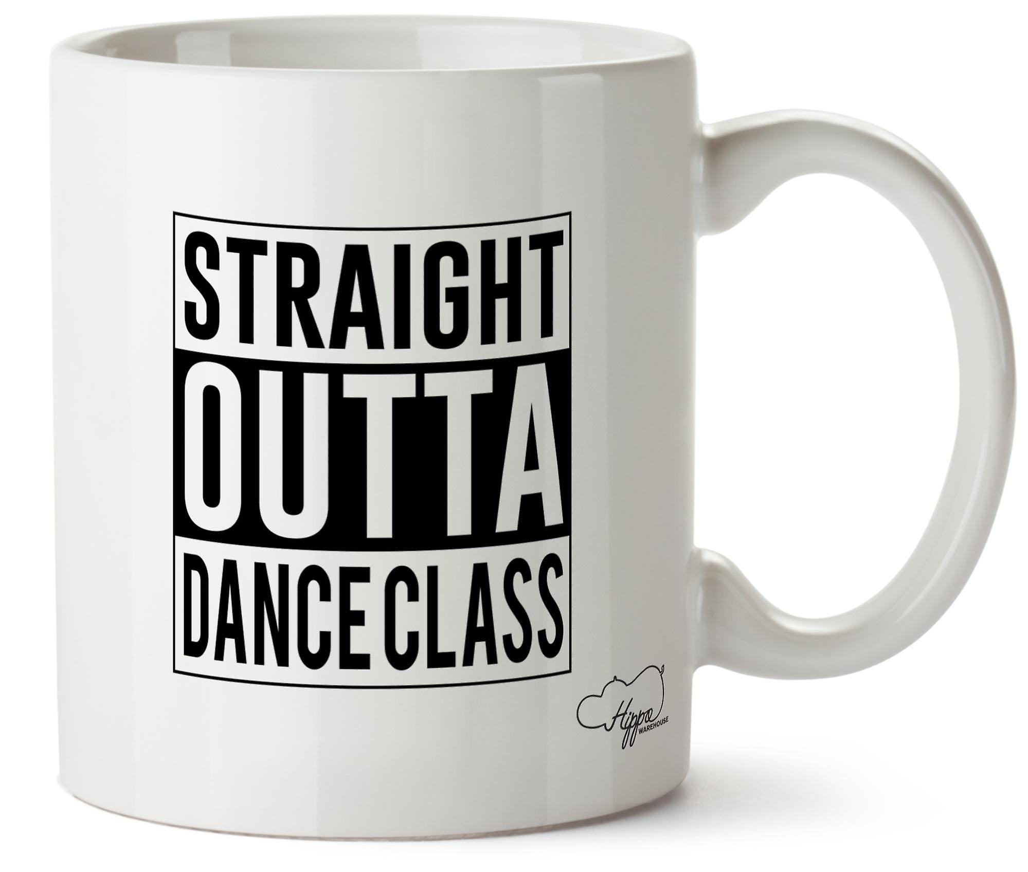 Hippowarehouse Straight Outta Dance Class 10oz Mug Cup