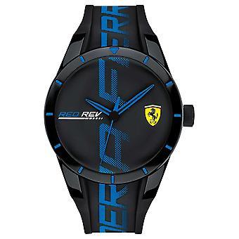 Scuderia Ferrari | Men's Redrev | BlackBlue Silicone Strap | Black Dial | 0830616 Watch