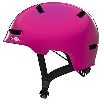 Abus scraper kid 3.0 bike helmet / / shiny pink
