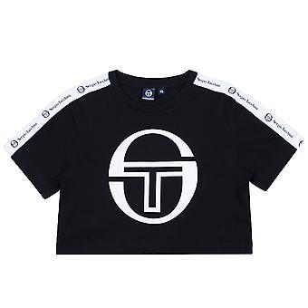 Sergio Tacchini women's T-Shirt Romina cropped logo tape