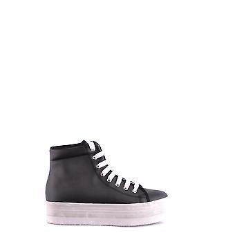 Jeffrey Campbell Ezbc132035 Women-apos;s Black Leather Hi Top Sneakers