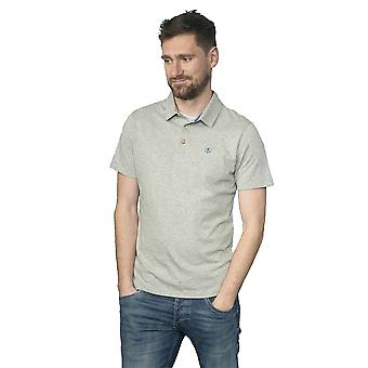 Lighthouse Pier Mens Polo Grey Marl