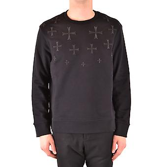 Neil Barrett Ezbc058073 Men's Black Cotton Sweater
