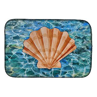Carolines Treasures  BB5367DDM Scallop Shell and Water Dish Drying Mat