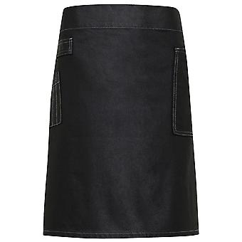 Premier Mens Division Waxed Look Durable Denim Waist Apron