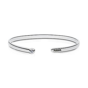 Purdue University Diamond Cuff Bracciale In Sterling Silver Design di BIXLER