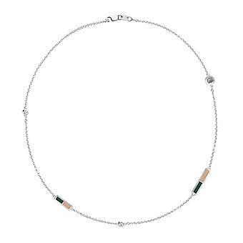 Ohio University Diamond Chain Collana In Sterling Silver Design di BIXLER