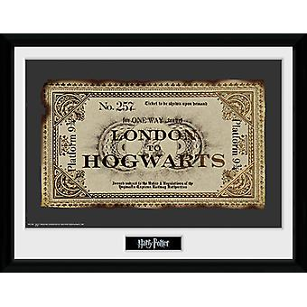 Harry Potter biljett inramade Collector Print 40x30cm