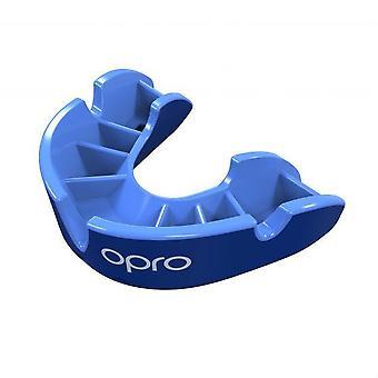 Opro Junior Silver Gen 4 Mouth Guard Blue/Light Blue