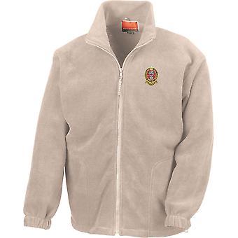 Prins af Wales eget regiment af Yorkshire PWRR-licenseret British Army broderet Heavyweight fleece jakke