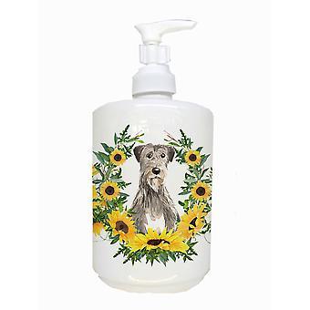 Carolines Treasures  CK2974SOAP Irish Wolfhound Ceramic Soap Dispenser