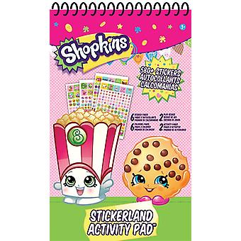 Stickerland Activity Pad - Shopkins - 16 pages Toys Stationery New st9027