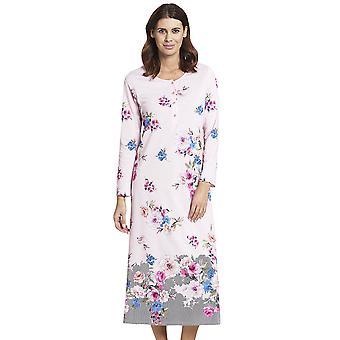 Rasch 1193591-16412 Mujeres's Nuevo Romance Rosa Floral Cotton Nightdress