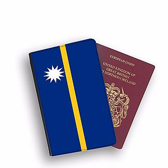NAURU Flag Passport Holder Style Case Cover Protective Wallet Flags design