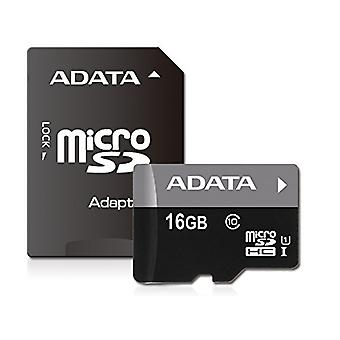 ADATA Premier 16GB microSDHC/SDXC UHS-I U1 Memory Card with Adapter