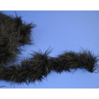 2m Black Marabou Feather Trim for Crafts