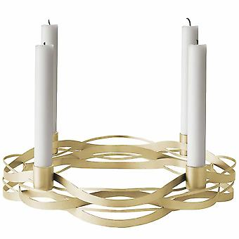 Stelton tangle stearinlys indehaveren messing advent adventskrans
