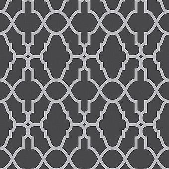 Casablanca Trellis Fretwork Wallpaper Rasch