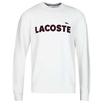 Lacoste Contrast Logo White Knitted Sweater