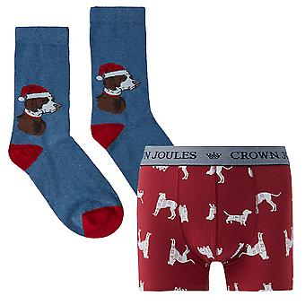 Joules Mens Pud A Sock In It Boxer and Socks Gift Set