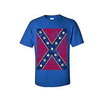 Oversized Distressed Confederate Rebel Flag Camiseta Southern Pride