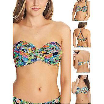 Insel Mädchen Twist strapless Bikini Top