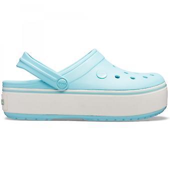 Crocs 205434 Crocband Platform Ladies Clogs Ice Blue/ice Blue