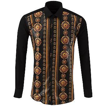 Oscar Banks Royal Medallion Print Mens Shirt