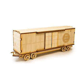 Crafts - box car - model kit raw wood 9x3x4in