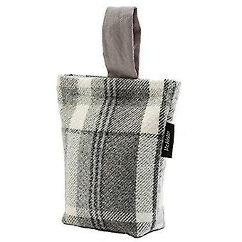 Mcalister textiles heritage tartan charcoal grey fabric door stop