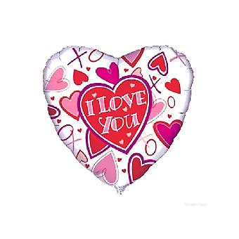 Folie ballon 'Ik hou van je'