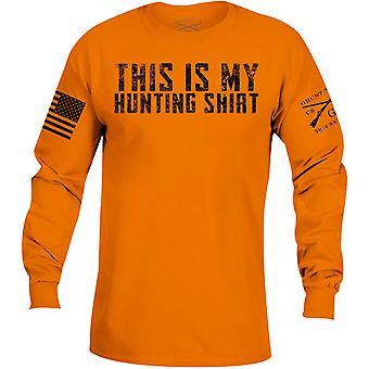 نمط نوون هذا هو قميصي الصيد طويل الأكمام تي شيرت - البرتقالي