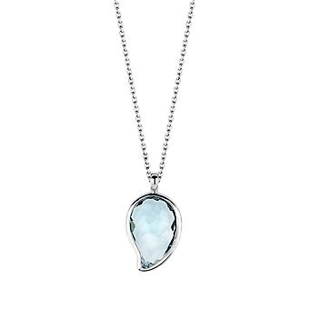 Ti Simões Indigo impressões 3919WB-42 - forma prata colar colar gota mulher água pedra azul