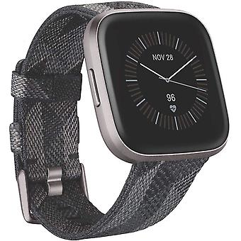 Fitbit Versa 2 Special Edition, Health & Fitness Smartwatch with Voice Control, Sleep Score & Music - SE Smoke Woven