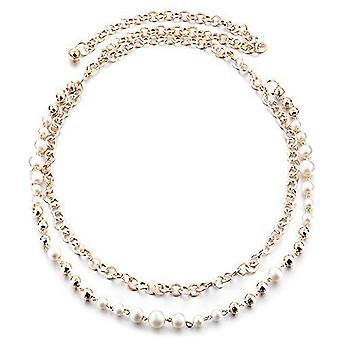 49 tommers Round Pearl Gold Chain midje belte