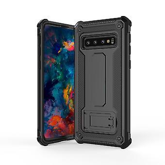 Samsung Galaxy S10 -kotelolle, musta erittäin ohut iskunkestävä PC + TPU-panssaritakakansi