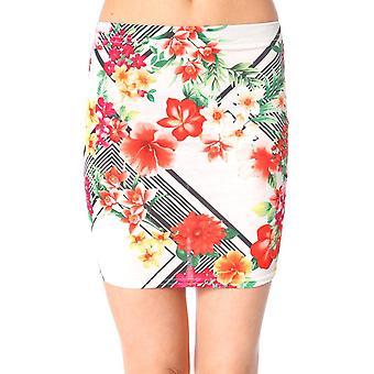 Davina Floral Bodycon mini rok in