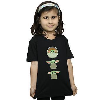 Star Wars Girls The Mandalorian The Child Posing T-Shirt