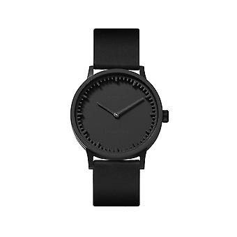 Leff Amsterdam LT74212 Black Leather T32 Black Tube Wristwatch