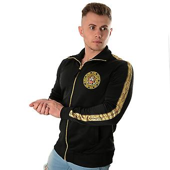Ed Hardy   Tiger Crouch Tour Tape Zip Track Top - Black