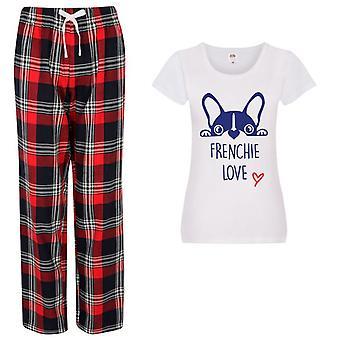 Hyvät Frenchie Love Tartan Housut Pyjamat