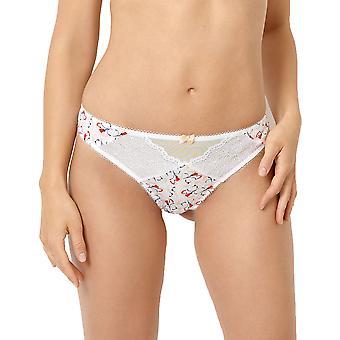 Sans Complexe 30PAE76 Women's Etonnante White Poppy Print Panty Thong