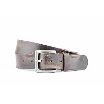Vintage Tough Brown Belt With Contrasting Red Edge